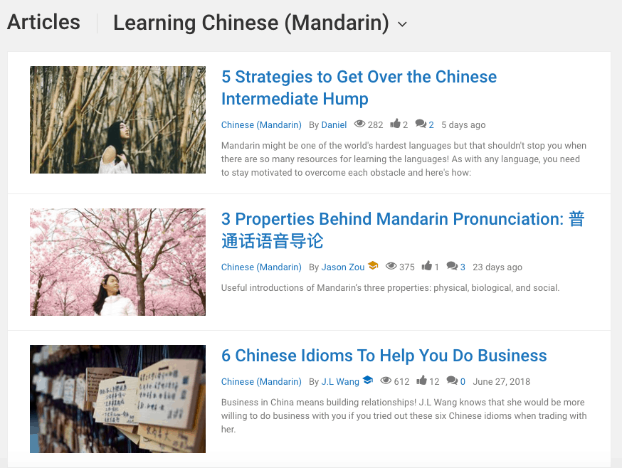 language learning articles
