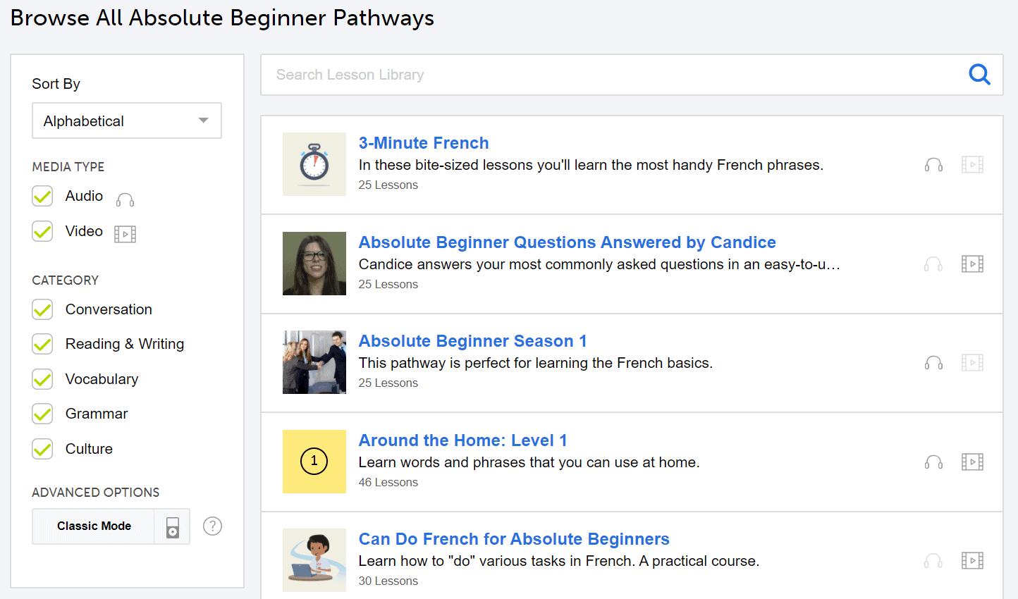 Absolute Beginner Pathways