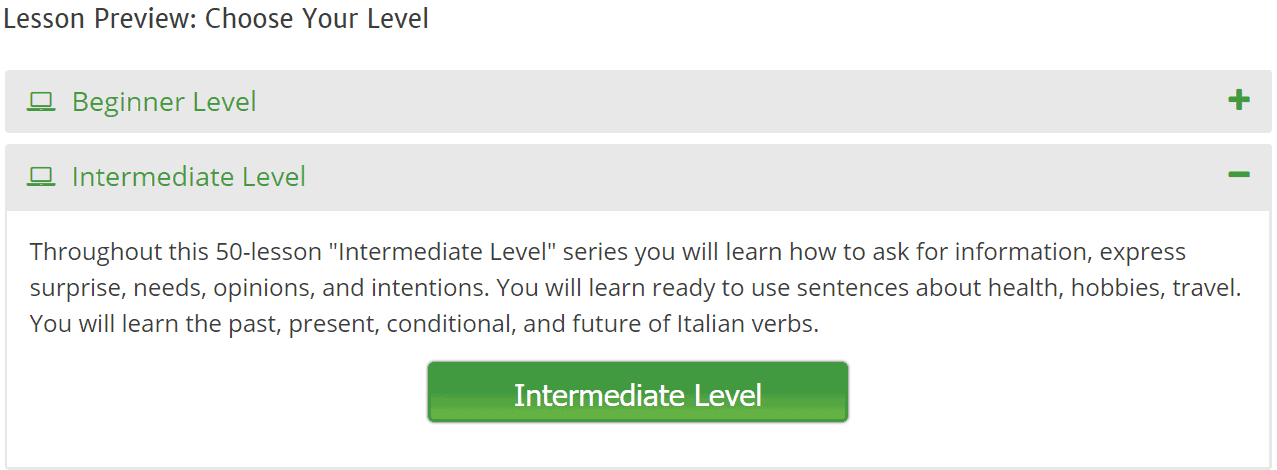 Intermediate Level Introduction