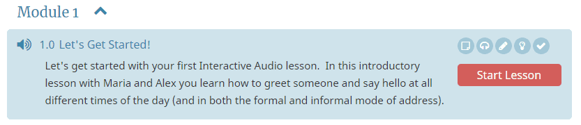Interactive Audio Lesson