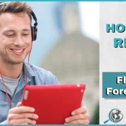 An Honest Review of Fluent Forever App With Image of Man Holding Tablet