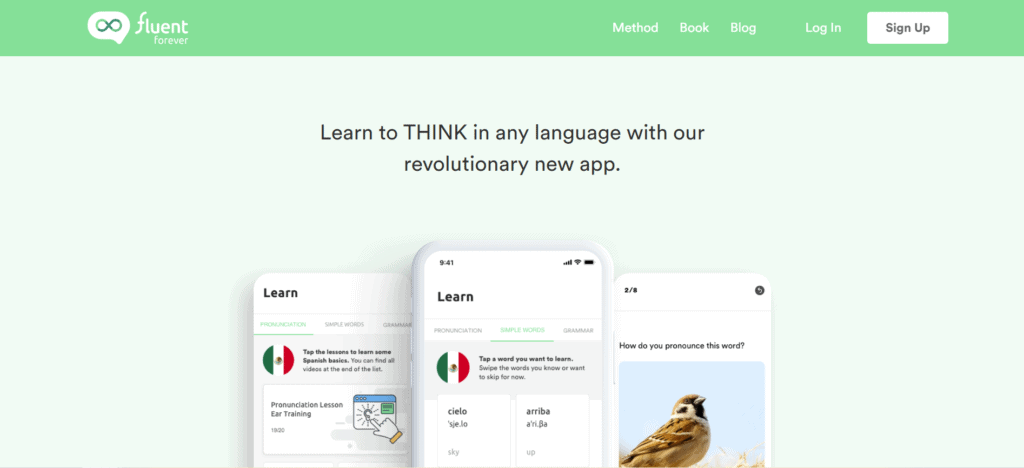 Fluent Forever home page