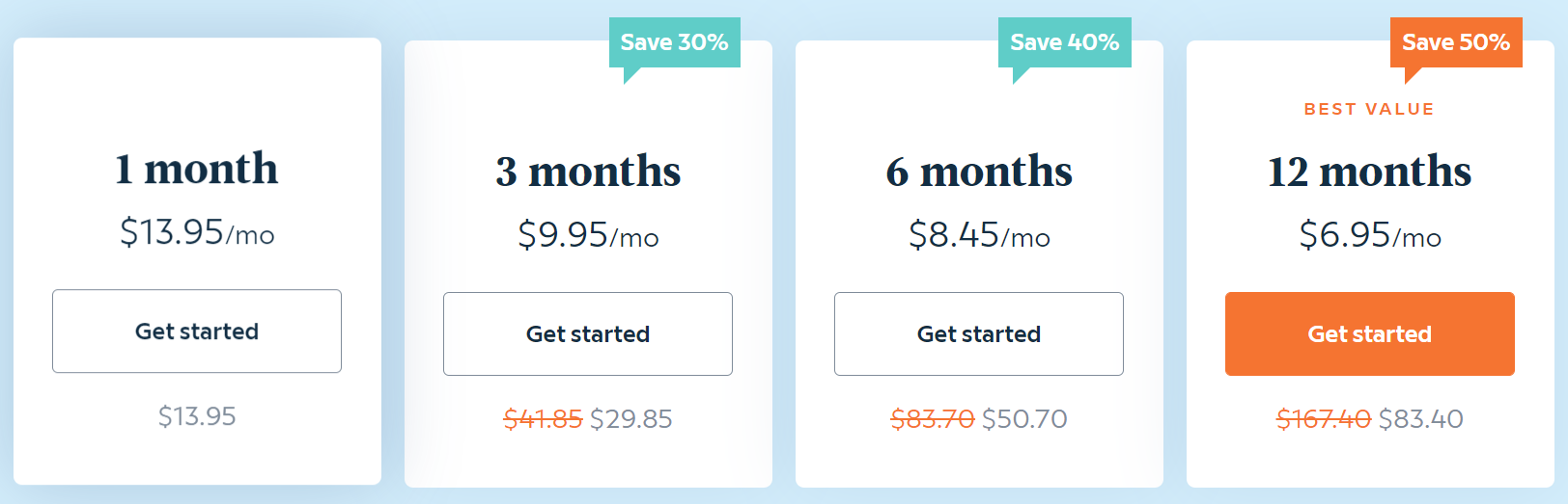 Screenshot showing the various Babbel subscription prices.