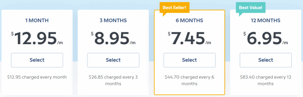 A table showing the prices for subscriptions to the Babbel product.