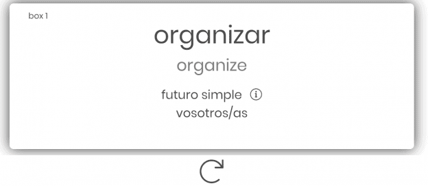 Flashcard showing the word