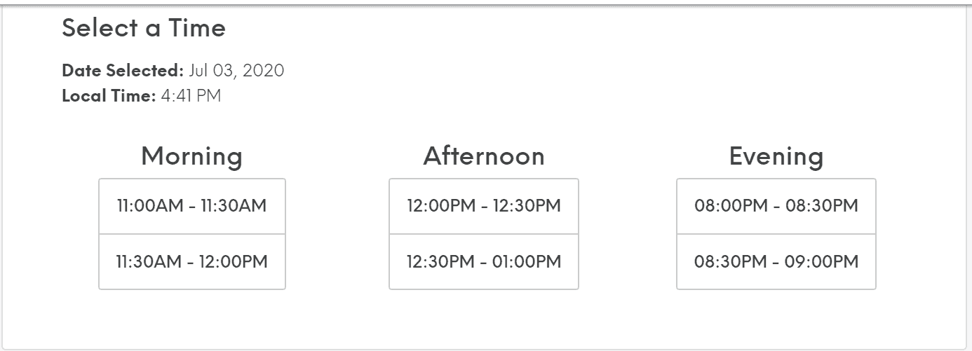 Tutor schedule