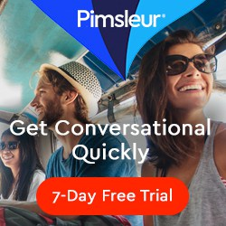 Pimsleur free trial ad