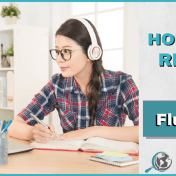 An Honest Review of FluentU With Image of Girl Using Computer and Wearing Headphones