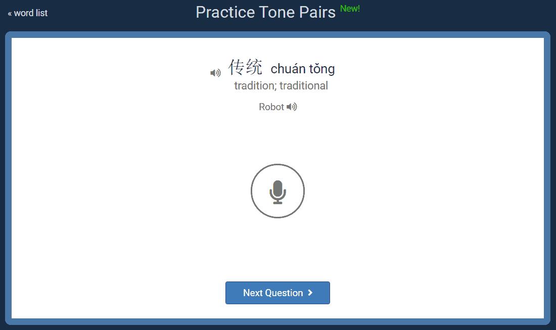 Tone Pairs Speaking Exercise