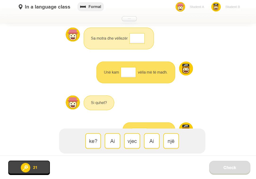 Dialogue Gap-fill
