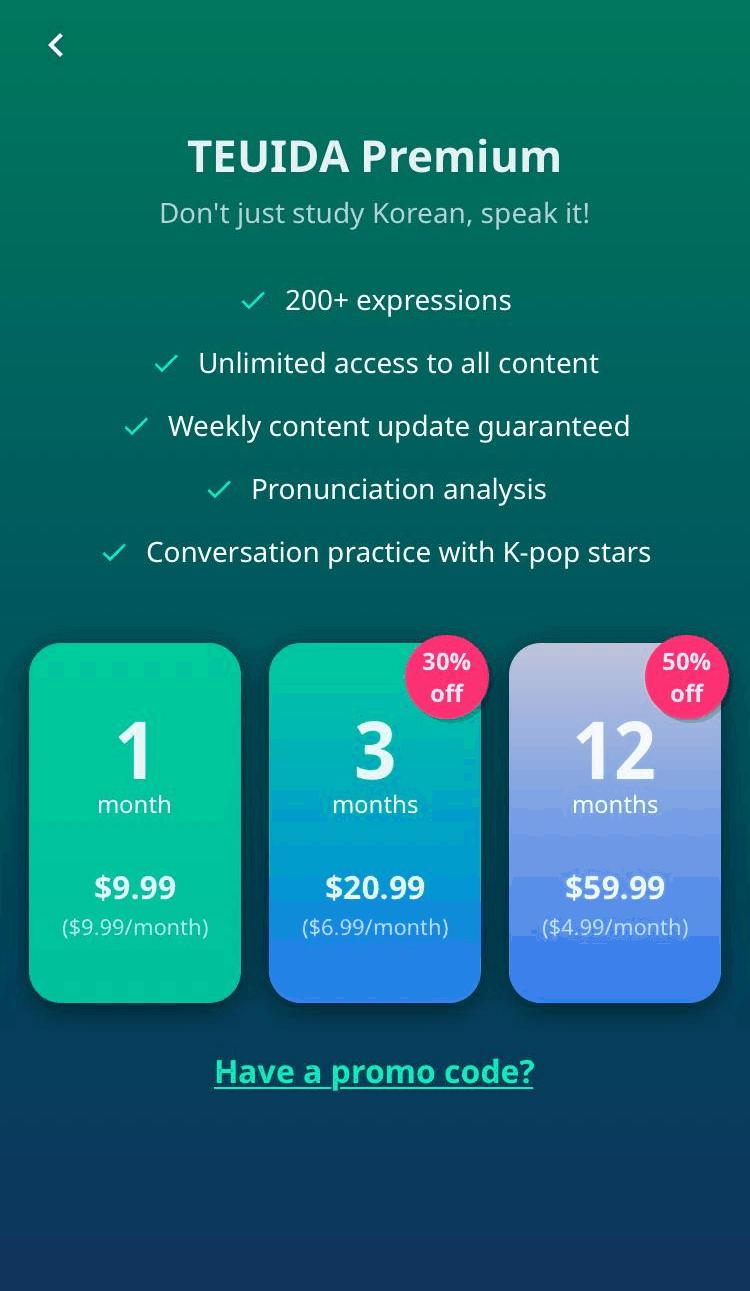 Teuida Pricing