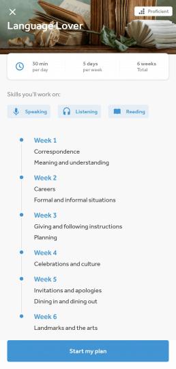 Language Lover Proficient Study Plan