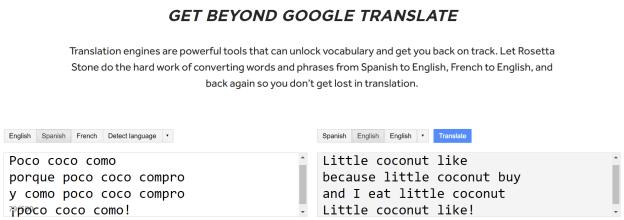 Rosetta Stone Translate