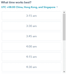 Asia Scheduling Options