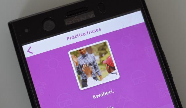 uTalk language app is open on the Swahili word Kwaheri
