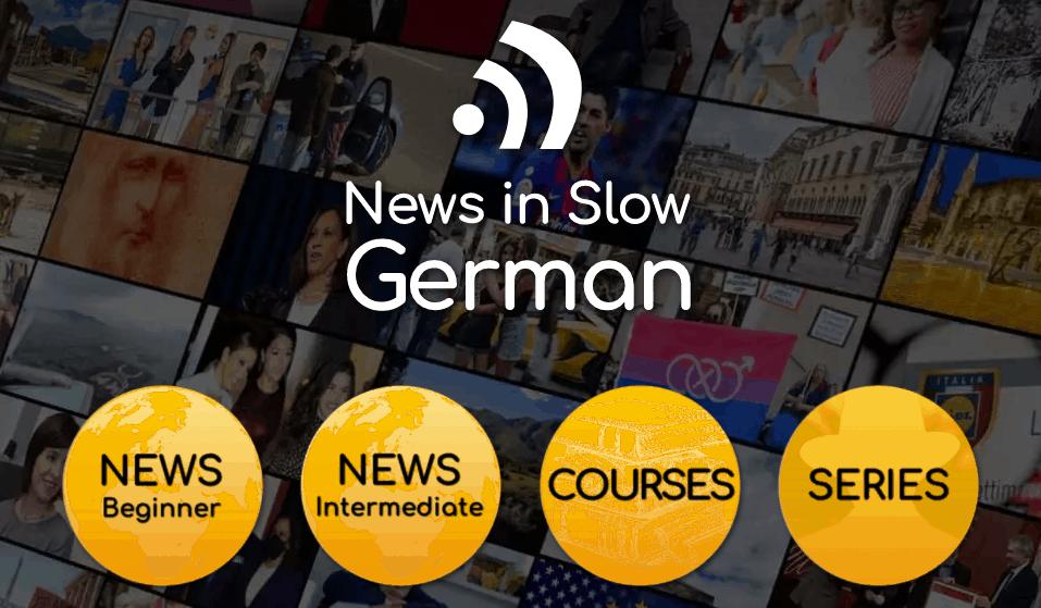 Screenshot of the News in SLow German landing page