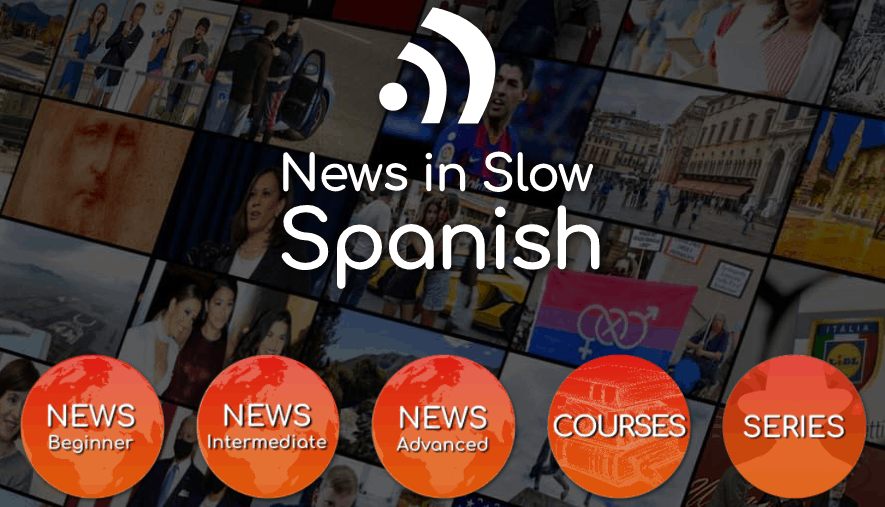 Screenshot of the News in Slow Spanish landing page.