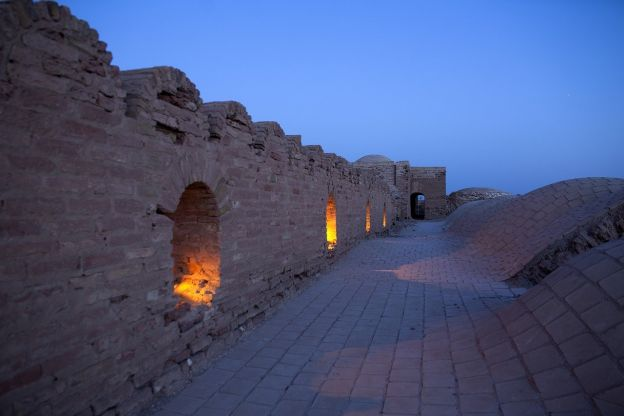 This Caravansarai is made of stone and provided shelter for travelers along the Silk Road.