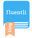 Image of a blue journal with the word fluentli on the cover.