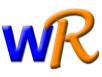 "Blue ""W"" and orange ""R"""